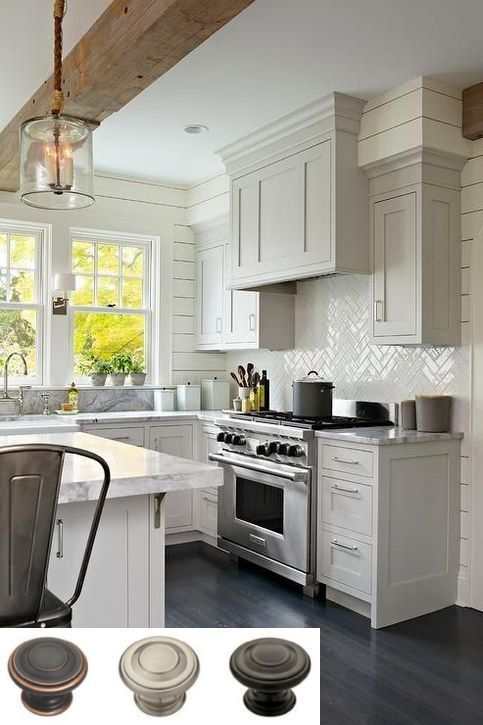 Knotty alder kitchen cabinets and modern farmhouse ...