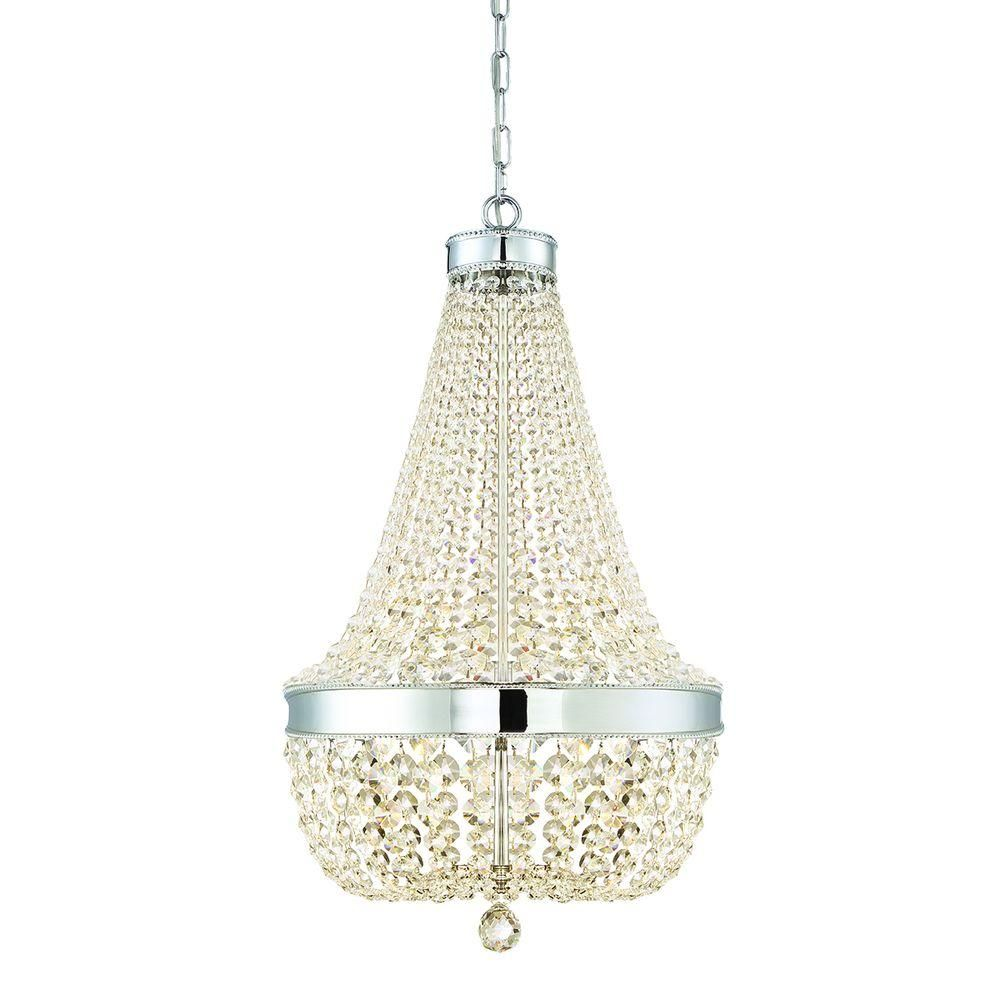 Home Decorators Collection 6 Light Chrome Crystal Chandelier 30331