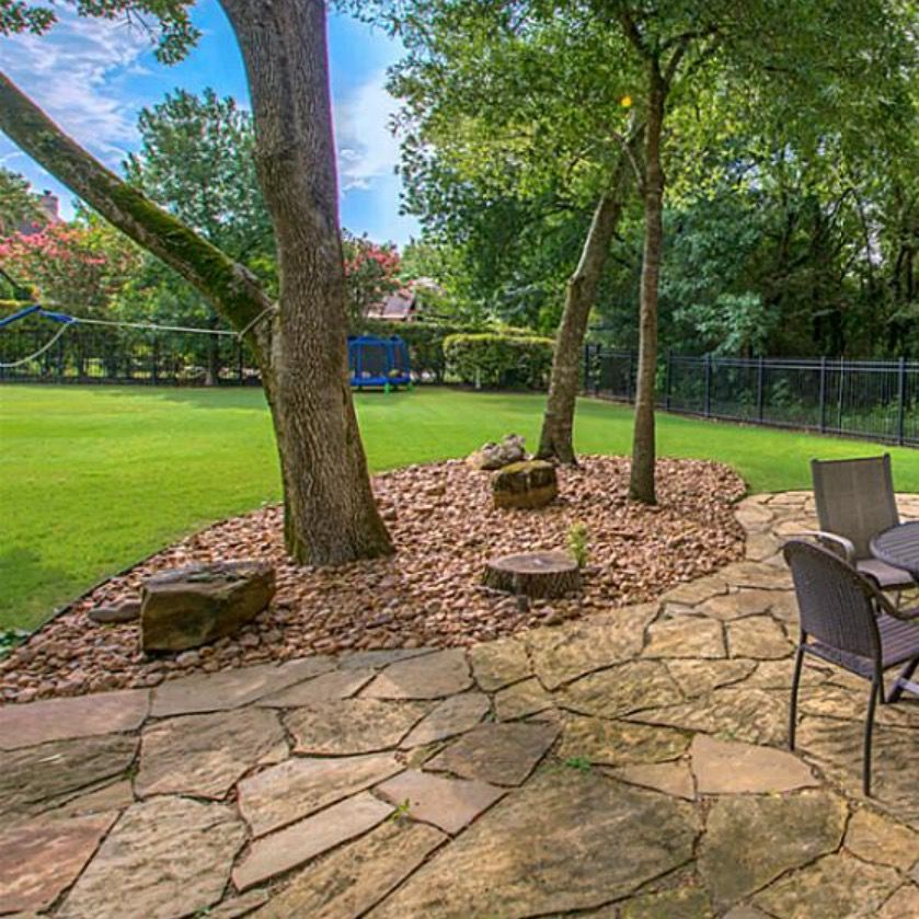 Flag stone patio and river rock | Outdoor living | Patio ... on Rock And Stone Outdoor Living id=70583