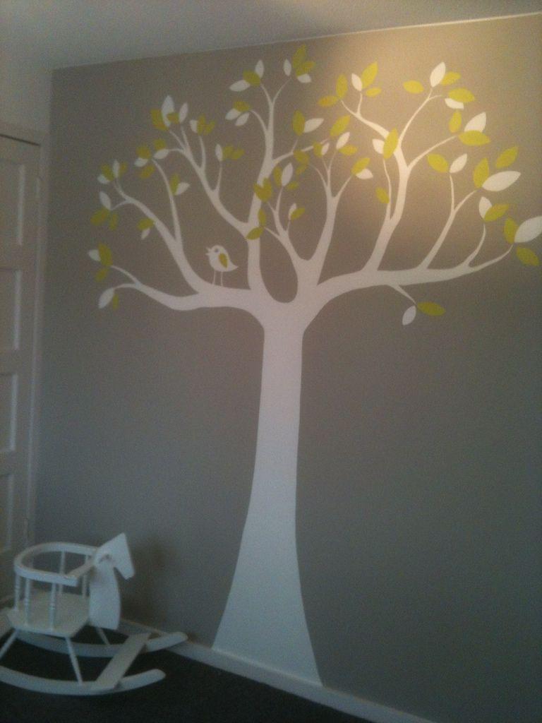 toetie kolorie: babykamer boom grijs/groen   kinderkamer   pinterest, Deco ideeën