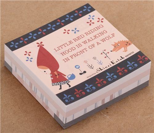 Little Red Riding Hood and wolf fairy tale memo pad paper block pad Shinzi Katoh http://www.amazon.com/dp/B015MF77JO/ref=cm_sw_r_pi_dp_jRC.wb1BJ758M