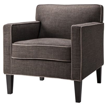 Cooper Upholstered Armchair Textured Asphalt Living Room Chairs Furniture Armchair