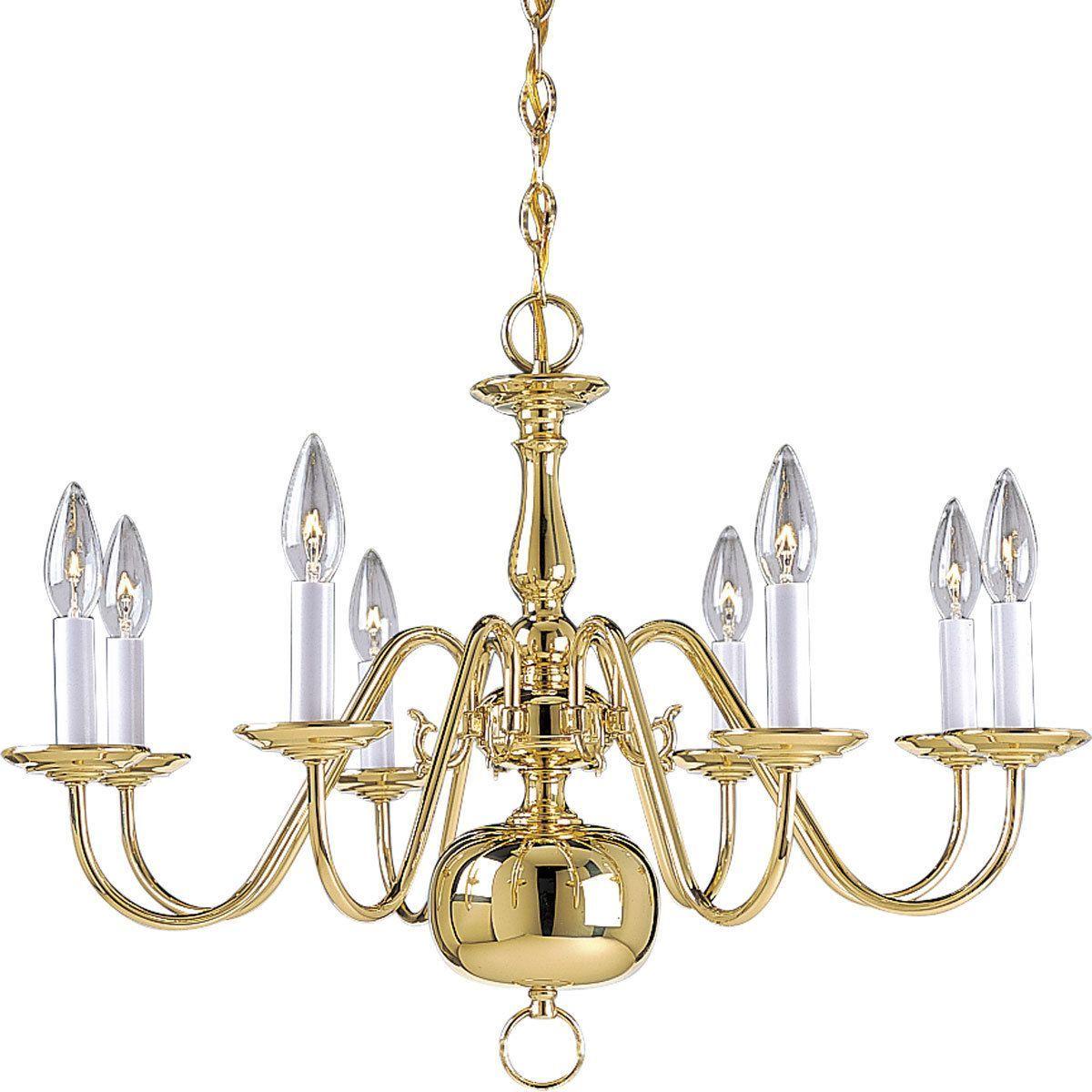 Progress Lighting 8-light Chandelier Lighting Fixture (8-Lt. chandelier), Gold (Metal)