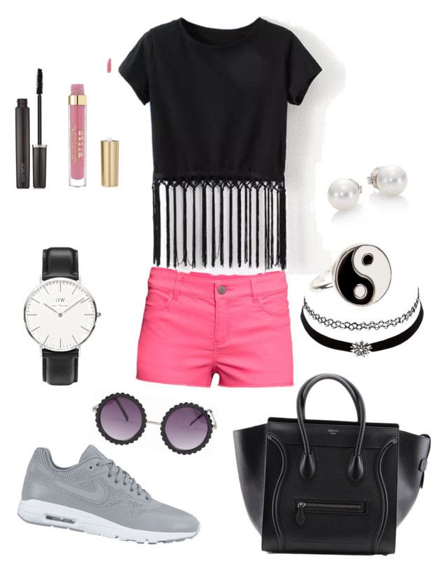 Untitled #69 by yasmeenf on Polyvore featuring polyvore, fashion, style, H&M, NIKE, Daniel Wellington, Mikimoto, Accessorize, Charlotte Russe and Laura Mercier