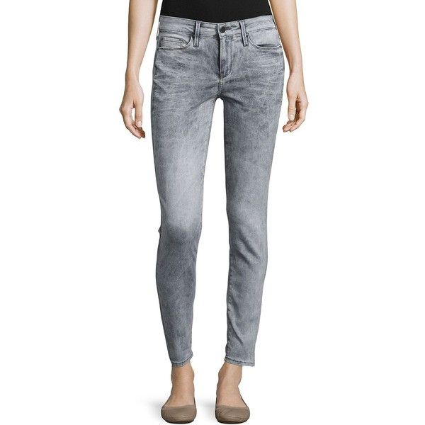 Calvin Klein Jeans  Stretch Jeggings ($60) ❤ liked on Polyvore featuring pants, leggings, grey fog, stretch leggings, stretchy pants, grey jeggings, gray leggings and zipper pants