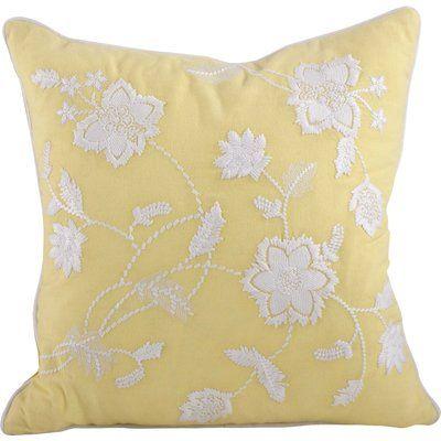 Ebern Designs Weirton Cotton Floral 18 Throw Pillow Throw Pillows Floral Throw Pillows Cotton Throw Pillow
