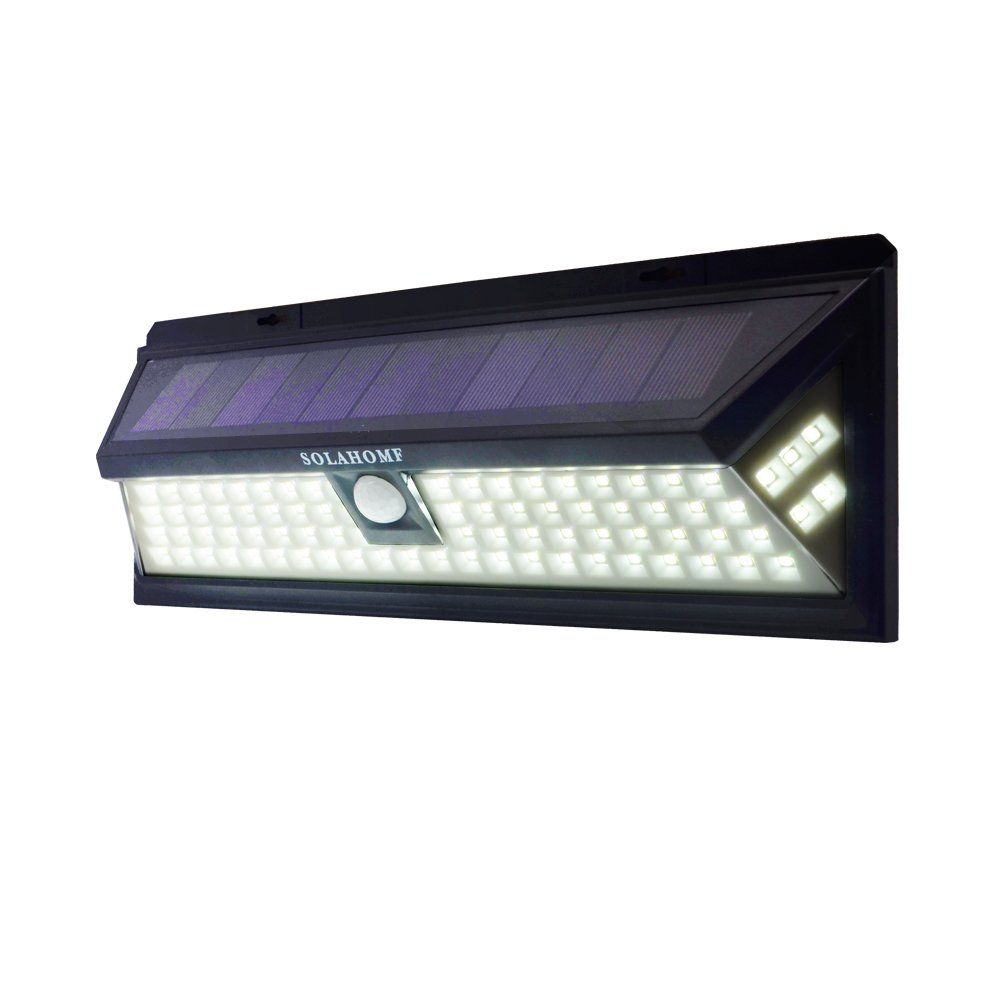 Solahomf super bright 86 led solar panel powered motion sensor solahomf super bright 86 led solar panel powered motion sensor outdoor flood wall light for aloadofball Image collections