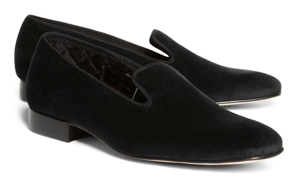 Velvet slippers, Tuxedo shoes