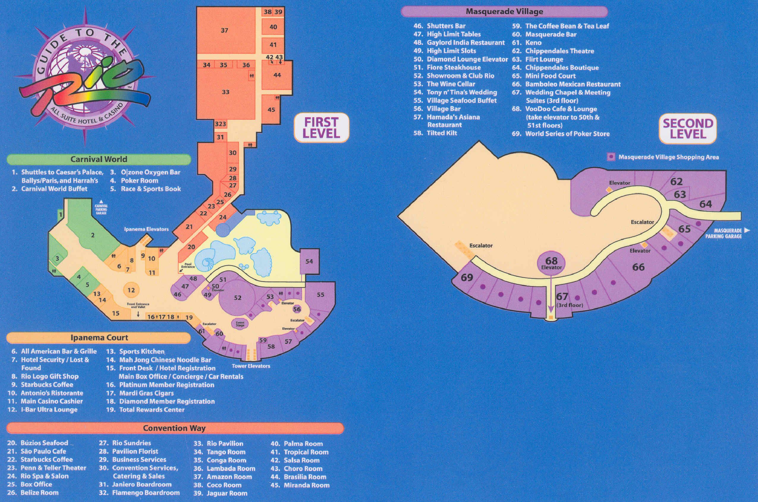 Rio Vegas Map
