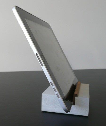tablet halter aus beton beton. Black Bedroom Furniture Sets. Home Design Ideas