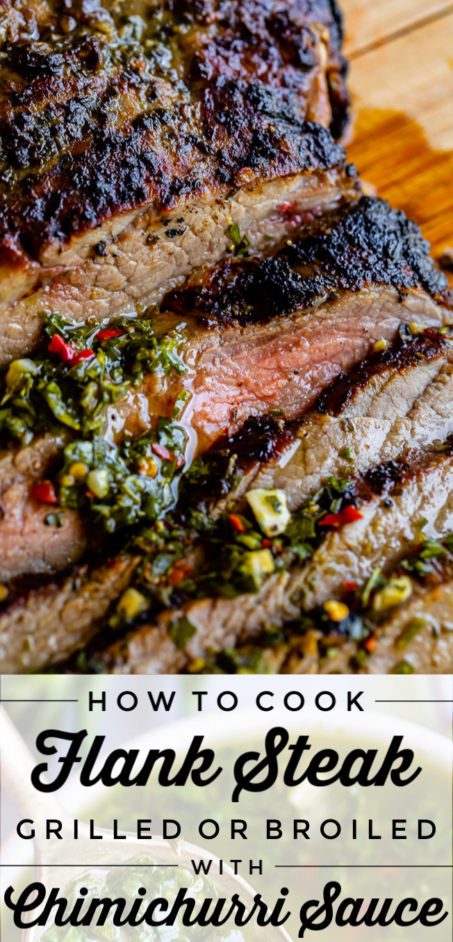 How to Cook Flank Steak (Grilled or Oven Broiled) from The Food Charlatan. Flank Steak is incredibly tasty when done well, but can be really easy to mess up. I will show you all my tips to get a flavorful, juicy, and tender flank steak, grilled outside or under the broiler! Using a great marinade, slicing correctly, and cooking hot and fast are the secrets to a fabulous flank steak.#flank