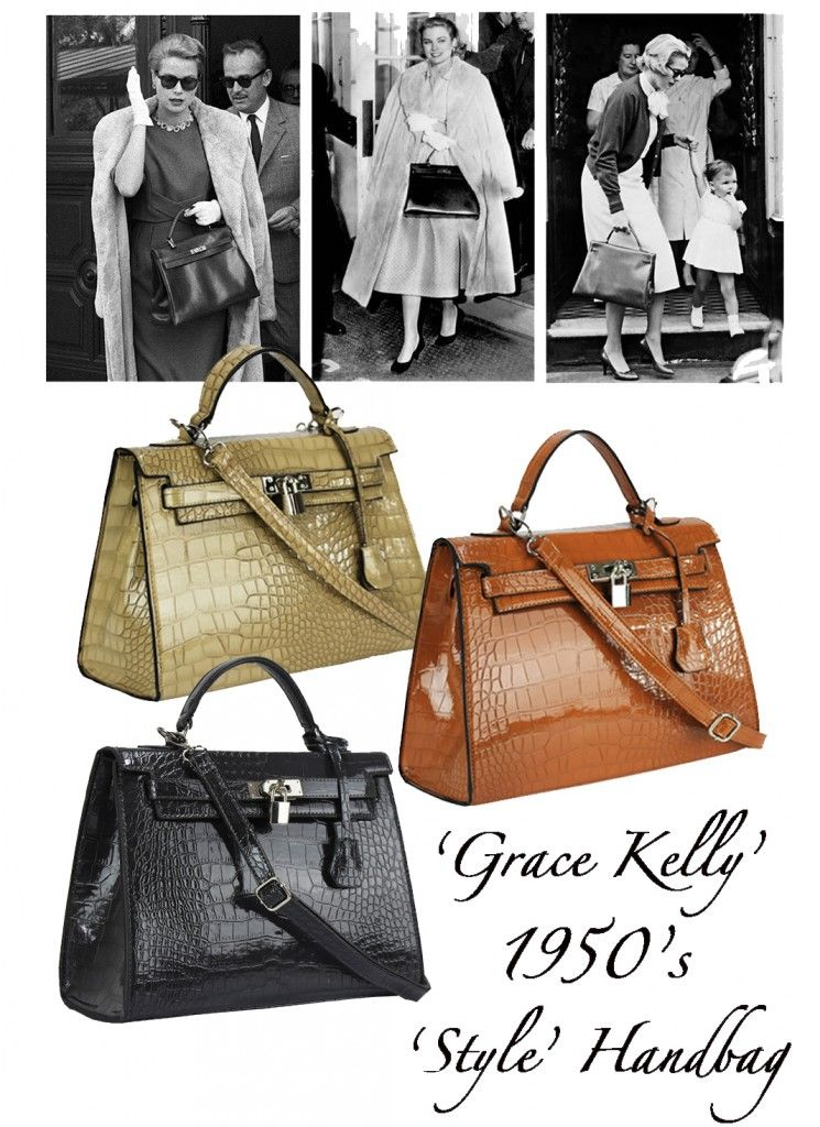 1950 Purse Styles One Of These Fabulous 1950 S Style Mock Croc Handbags Only 32 00 Grace Kelly Style Kelly Bag Vintage Coach Bags