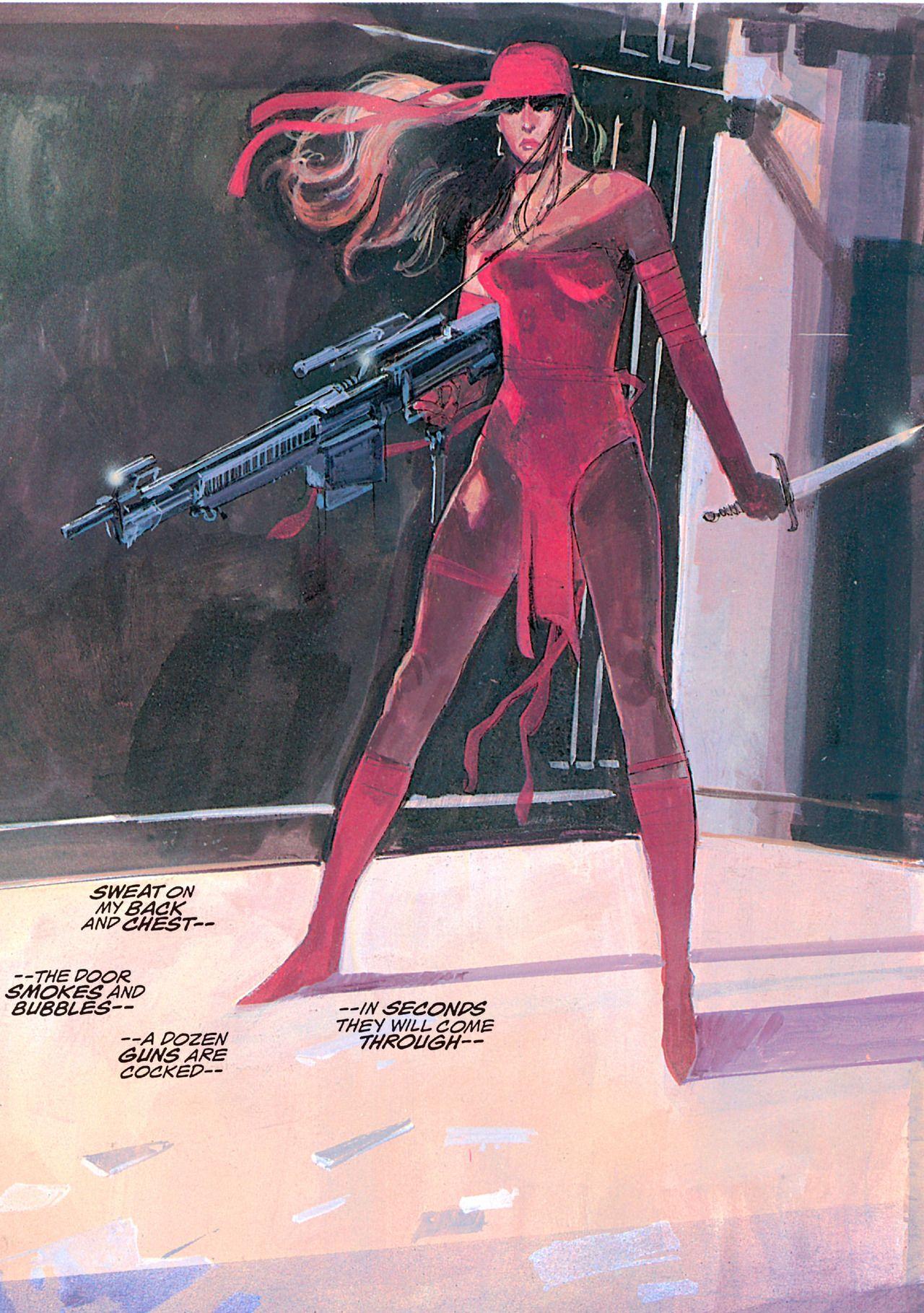 Elektra Assassin By Bill Sienkiewicz Marvel Elektra Marvel Comics Vintage Comic Book Artists