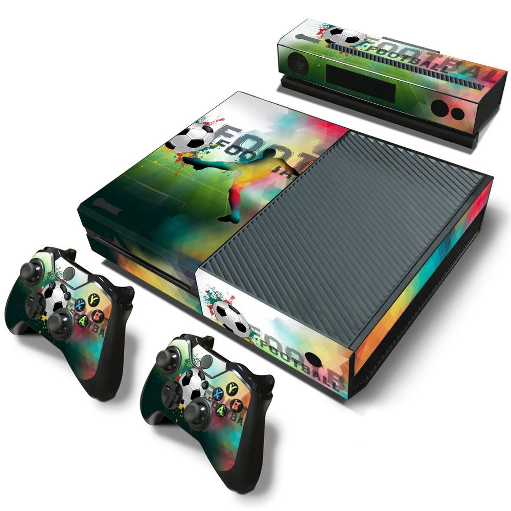 Xbox One Console Skin Decal Sticker Football Soccer 2 Controller Custom Design Zoomhit Xbox One Xbox One Console Overwatch Xbox