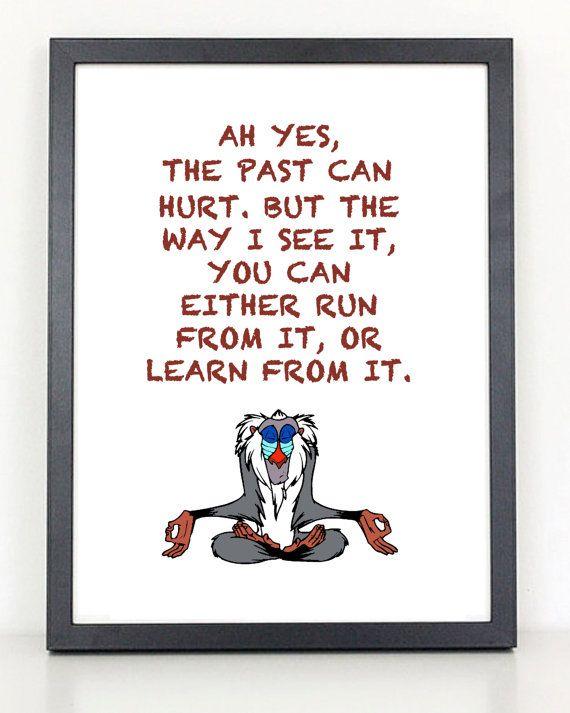 Rafiki Quotes Lion King The Past Can Hurt Rafiki Quotecoliseumgraphics .