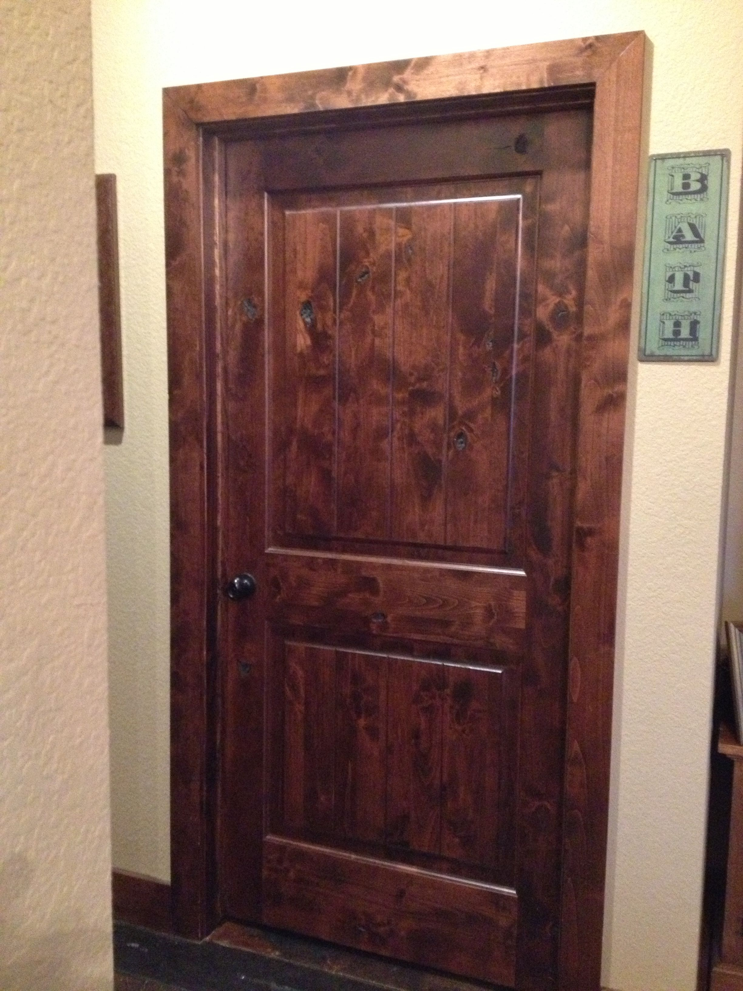 Stained Knotty Alder Doors Trim So Rustic Rustic Doors Rustic Doors Interior Bedroom Door Decorations