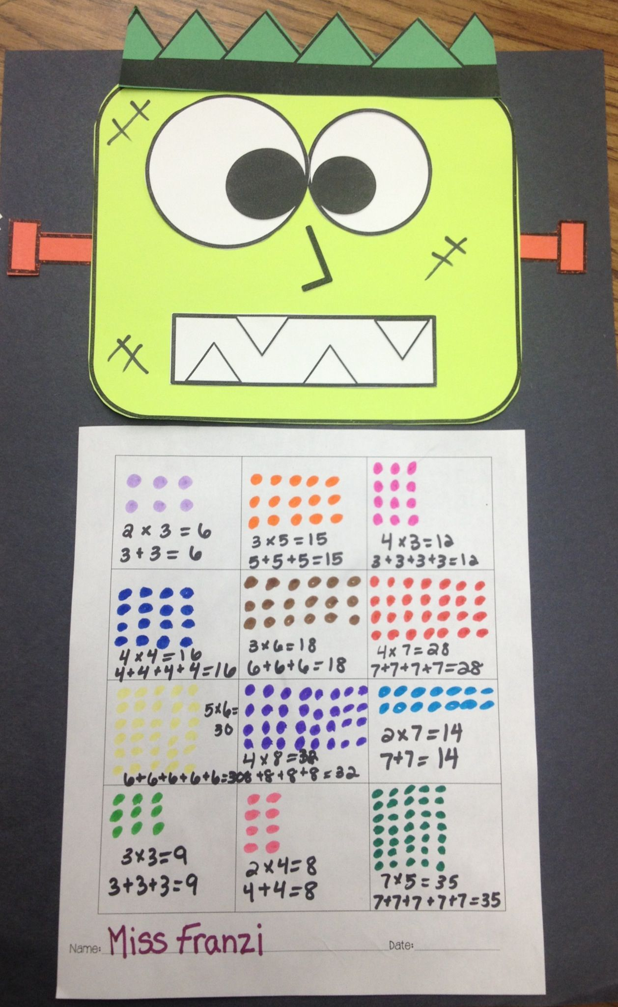 Multiplication with arrays and repeated addition | Math ...