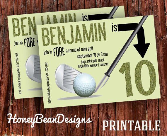 Printable Golf Mini Golf Birthday Party By Honeybeandesigns 1200