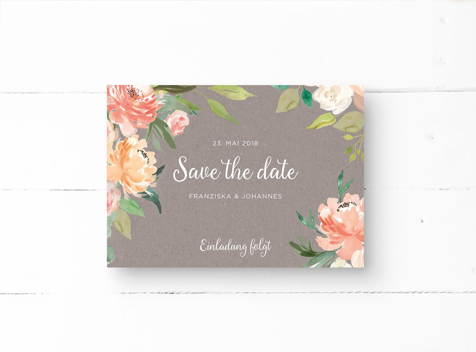 Save the date postkarte sparkle passend zur stilvoll festlichen hochzeit zart romantisch und