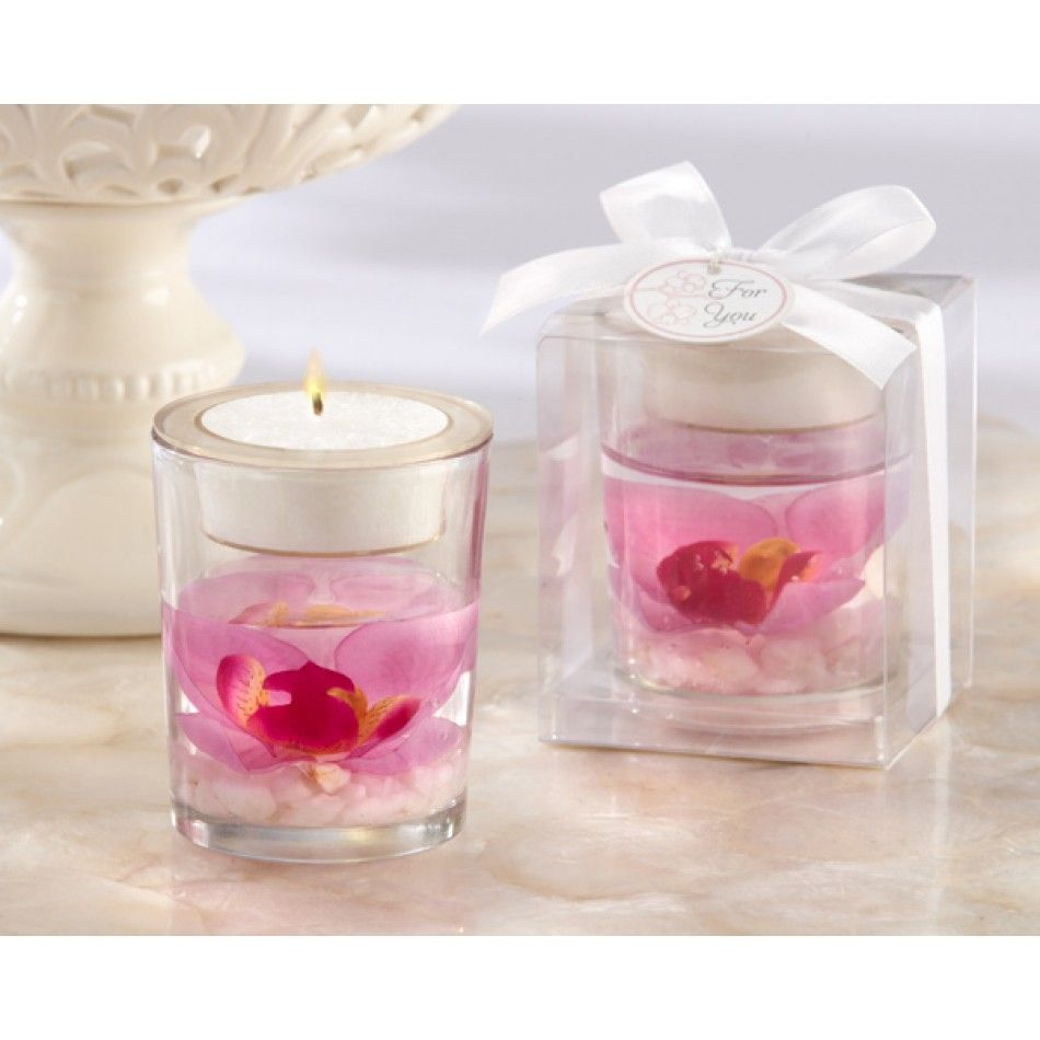 Elegant Orchid Tealight Candle Holder Favor [528-20126PK Pink Orchid ...