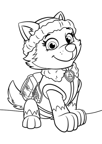 Paw Patrol Everest Coloring Pages 01 | Coloring Pages | Pinterest ...