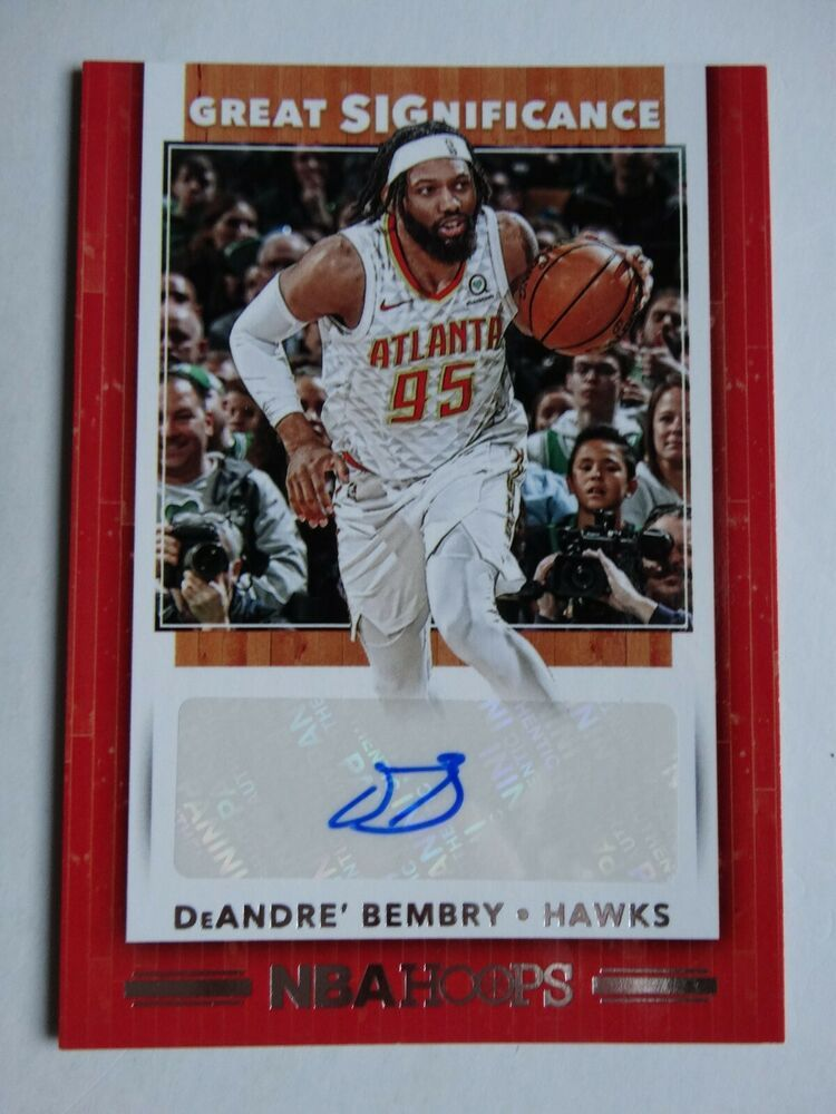 201920 Hoops DeAndre' Bembry Hawks Great SIGnificance