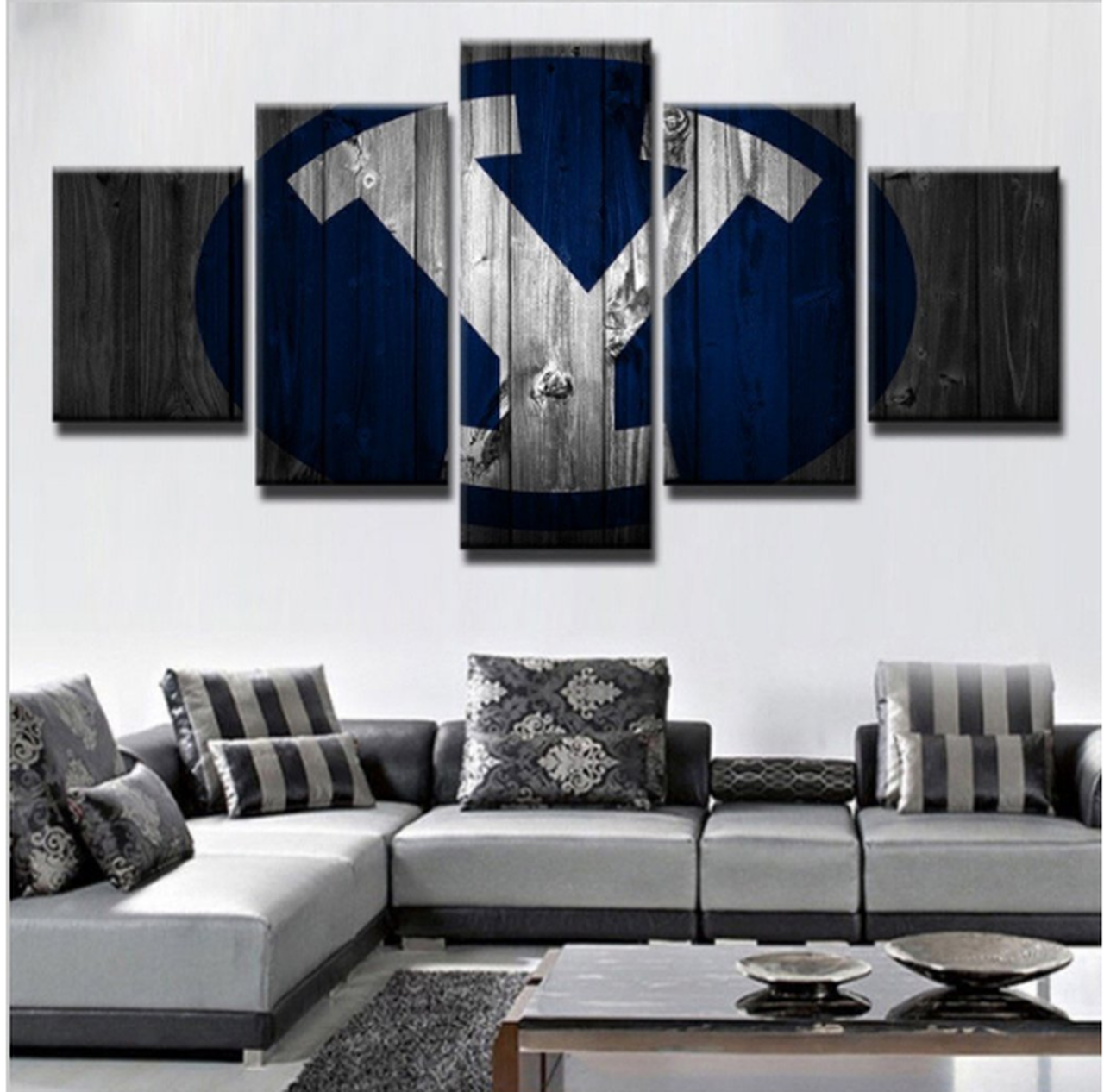Byu Cougars Baseball Sport 5 Panel Canvas Art Wall Decor Canvas Art Wall Decor Canvas Wall Decor Wall Canvas
