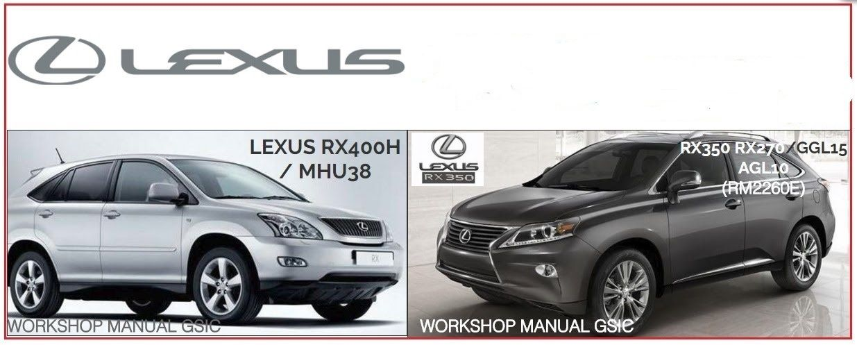 lexus rx350 270 rx400h workshop manuals rh pinterest com lexus rx 350 manual 2015 lexus rx350 manually open trunk