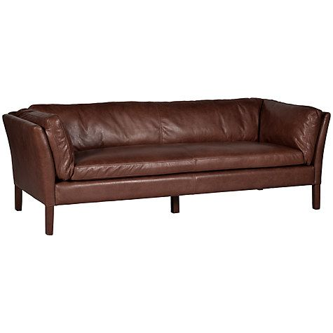 Halo Groucho Large Aniline Leather Sofa Online At Johnlewis