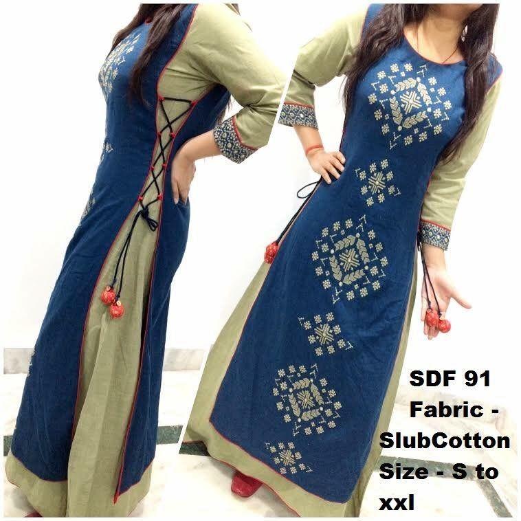 Make Ur Tight Kurti One Size Large Using This Design