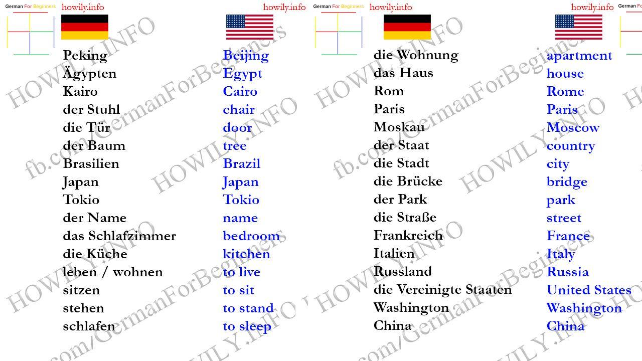 Lektion 7 | alemão | Pinterest | Englisch, Sprachen und Lernen