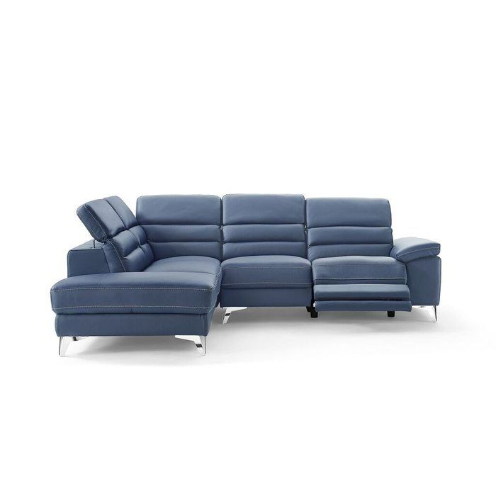 Marvelous Westall Leather Reclining Sectional Con Furnishings Evergreenethics Interior Chair Design Evergreenethicsorg