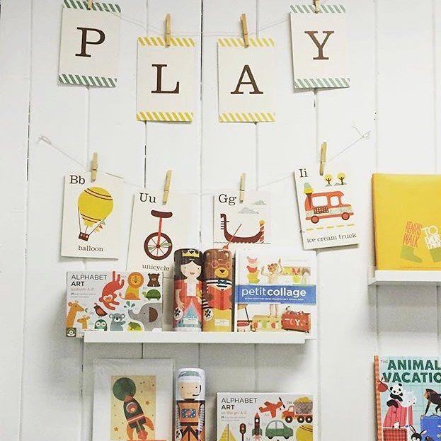 On your mark, get set, P L A Y !  Clever use of our alphabet art cards at magpiekids ❤️