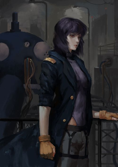Motoko Kusanagi Ghost In The Shell The Standalone Complex Solid State Society Ghost In The Shell Anime Ghost Fight Like A Girl