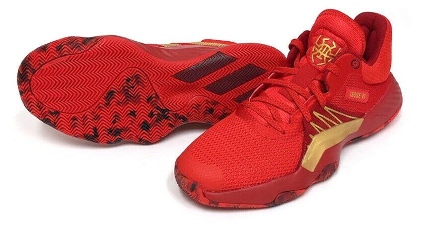 Adidas D O N Issue 1 Men S Basketball Shoes Casual Red Bounce