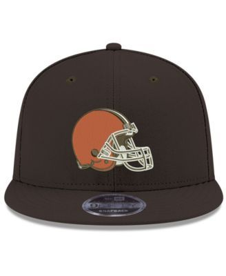 b15e08b7 New Era Cleveland Browns Team Color Basic 9FIFTY Snapback Cap - Brown  Adjustable
