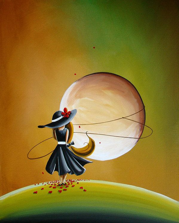 Moonrise By By Cindy Thornton Painting Surreal Art Art