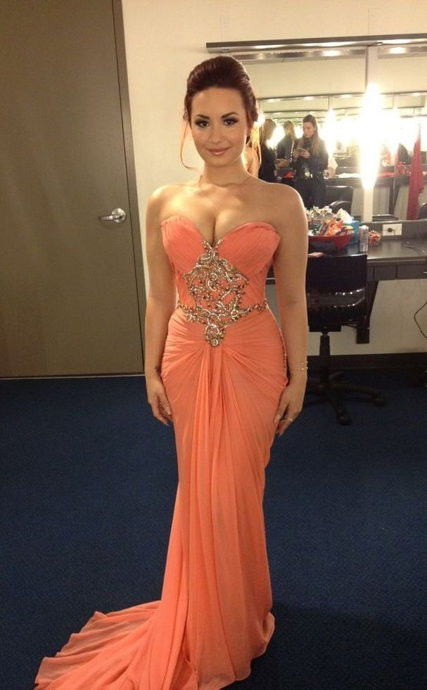 Mermaid Prom Dresses,Coral Prom Dress,Beading Prom Gown,Sweetheart ...