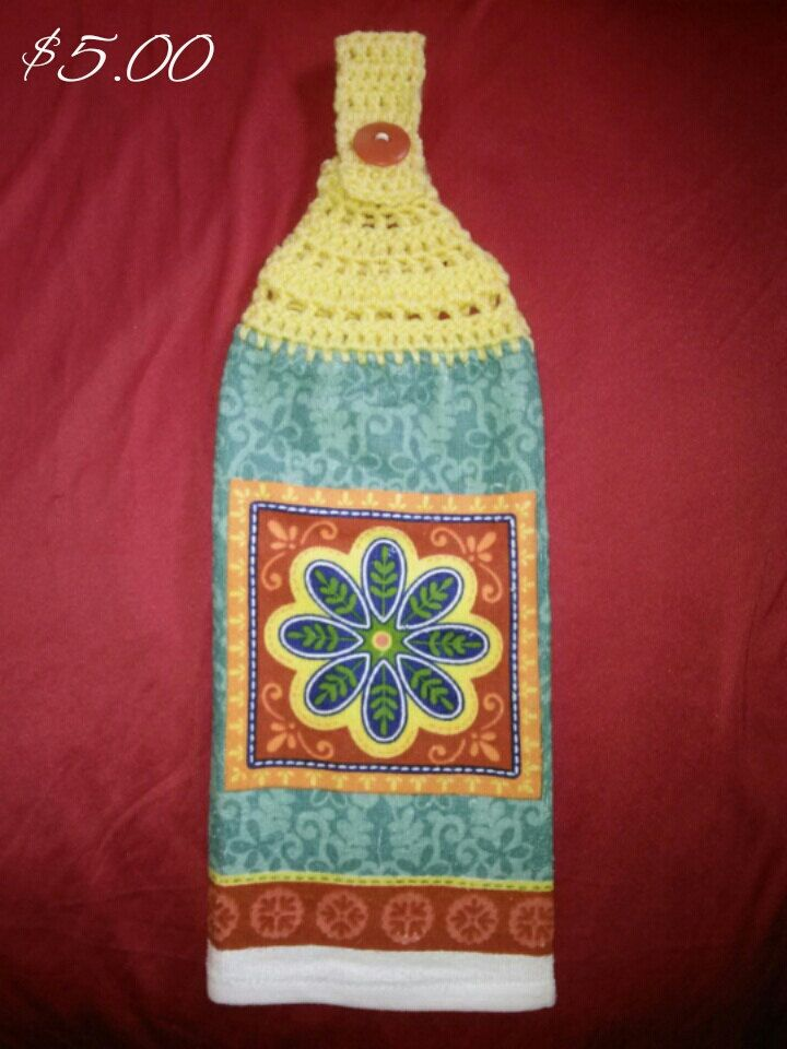 Charmant Handmade Crochet Hanging Kitchen Hand Towel 100% Cotton By KATILILLY On Etsy