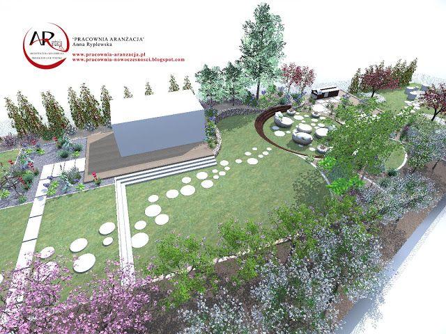 Projekt Dużego Ogrodu Tarasowego Projekty I Realizacje