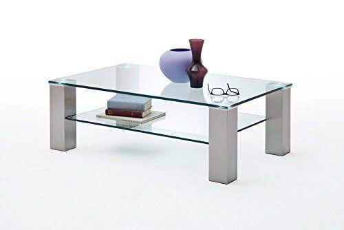 Wohnzimmertisch Metall ~ Wohnzimmertisch sofatisch kaffeetisch glastisch glas metall