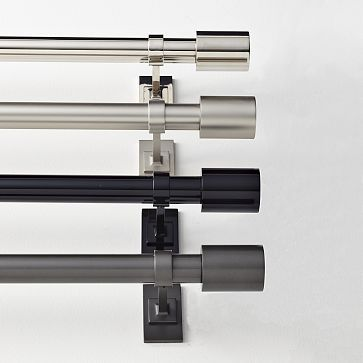 I Love The Oversized Metal Rod On Westelm Com Modern Curtain