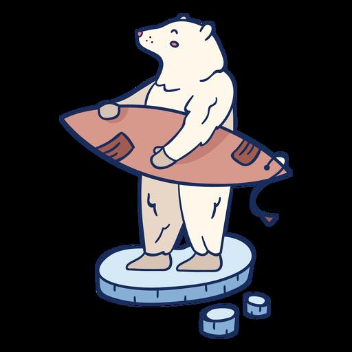 Polar bear surfing illustration AD , AD, Ad, bear,
