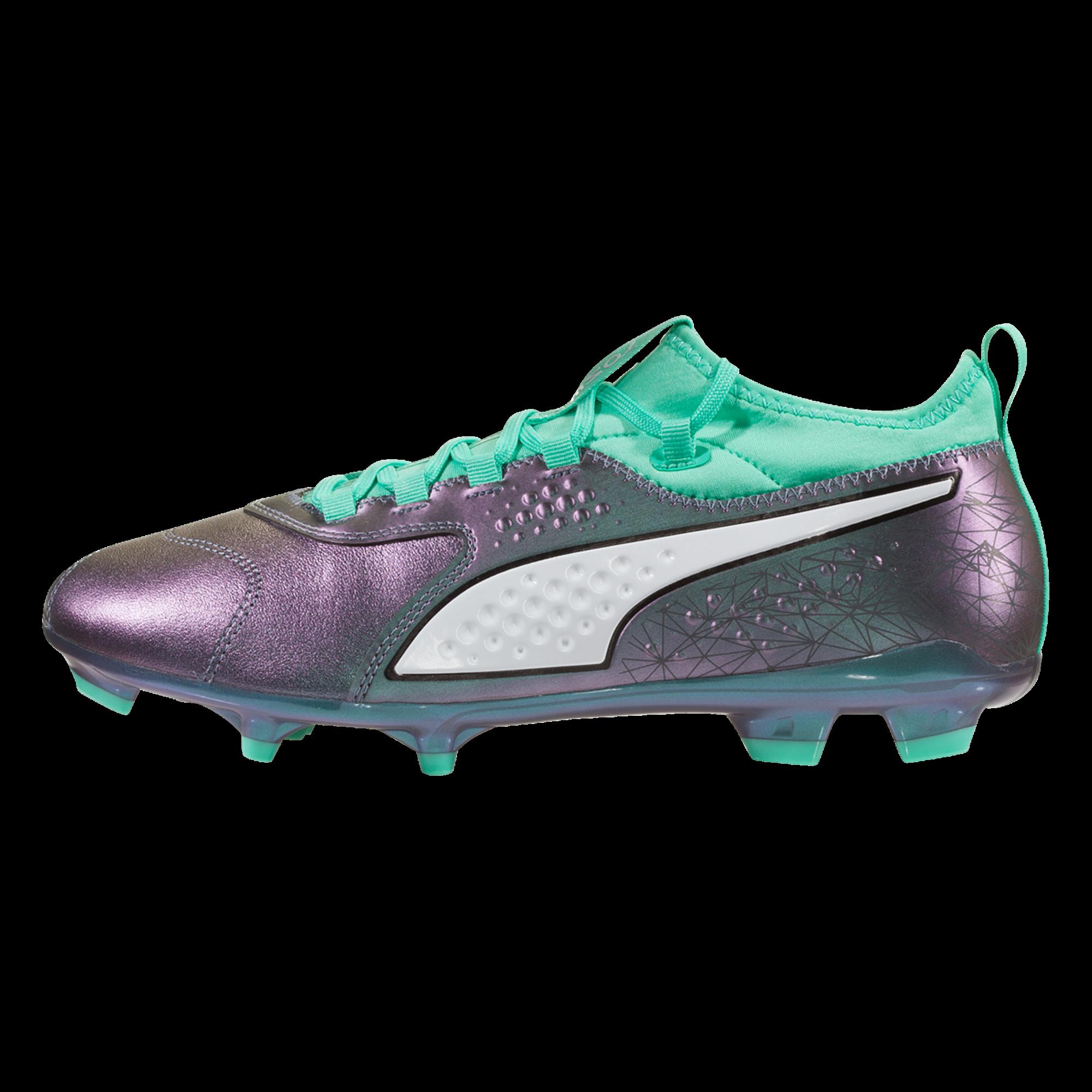 50050e7c1 PUMA ONE 3 WC Leather FG Soccer Cleat - Color Shift/Biscay Green/Puma  White/Puma Black