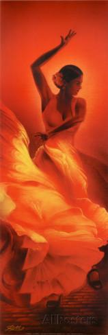 flamenco espagnol pinterest flamenco peinture et danseurs. Black Bedroom Furniture Sets. Home Design Ideas