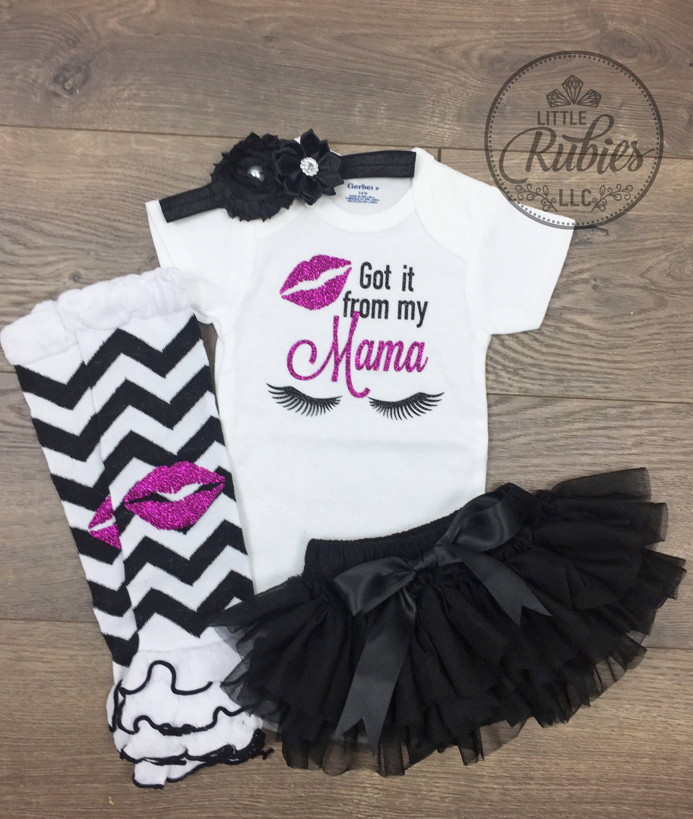 e8fff031e0e4 Got it from my Mama Baby girl outfit Diva onesie Newborn set Mommy ...
