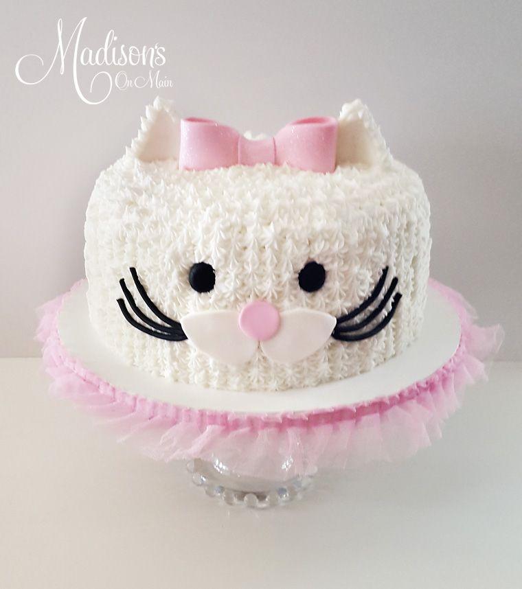 Sweet Kitty Cat Cake For A Girl Turning 5 Sugar Art Training