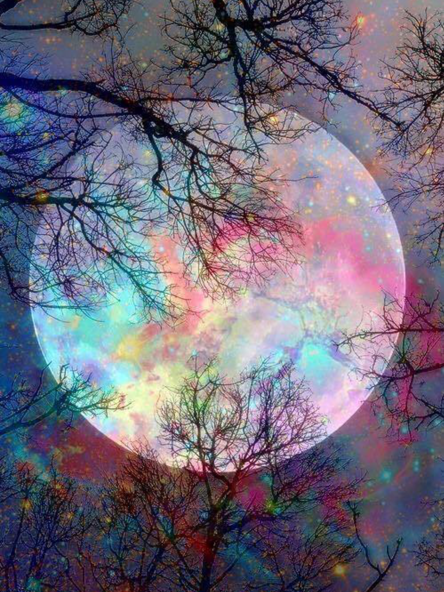 That Magical Fantasy Creation A Wintry Moon Of Opal Nature Photography Beautiful Nature Beautiful Landscapes