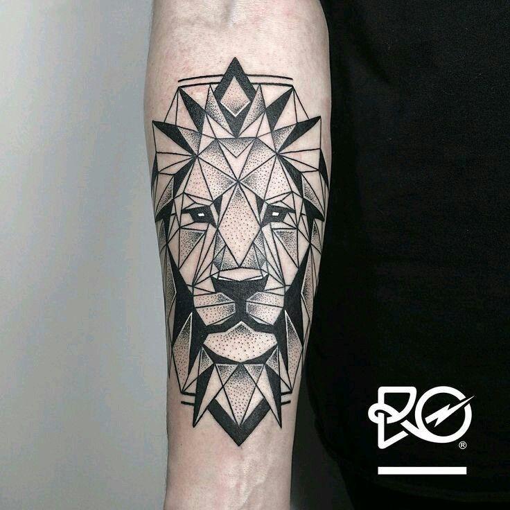 Tatuaje Geométrico De León дизайн Tatuaje Geométrico Tatuaje De