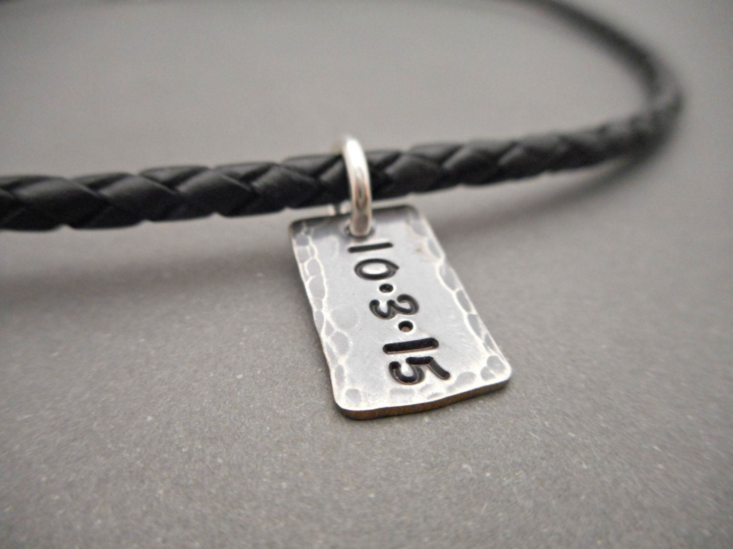 Leather Cord Necklace for Men Personalized Jewelry Personalized